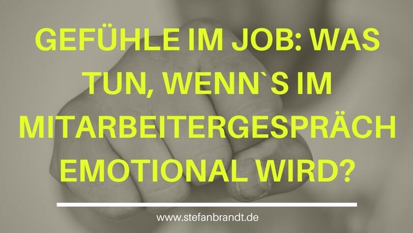 Gastartikel Stefan Brandt – Gefühle im Job