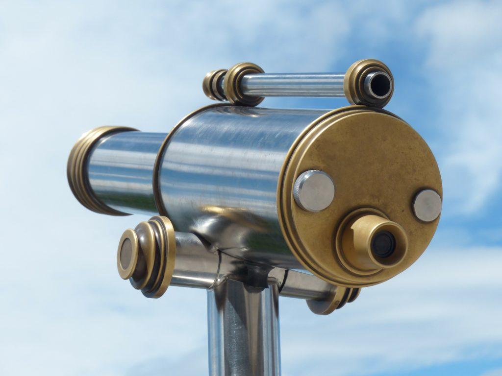 Vision finden mit dem Teleskop